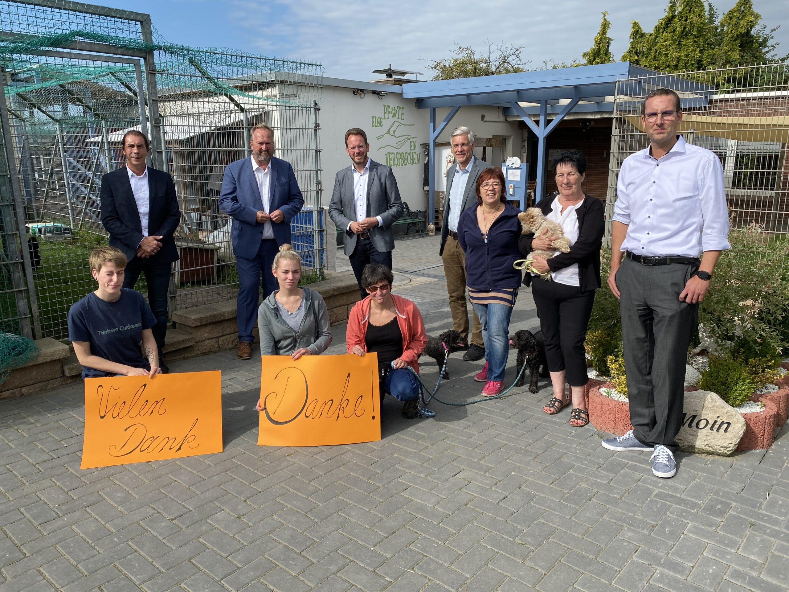 Zukunft gesichert: Vier (Samt-)Gemeinden und das Tierheim Cuxhaven schließen Kooperation ab